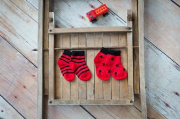 Fire Engine Matching Socks - 2 Pack